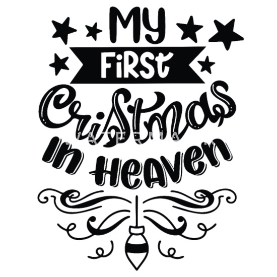 My First Christmas In Heaven.My First Christmas In Heaven Coasters Set Of 4 White