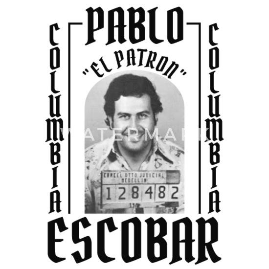 Pablo Escobar El Patron Untersetzer 4er Set Weiß