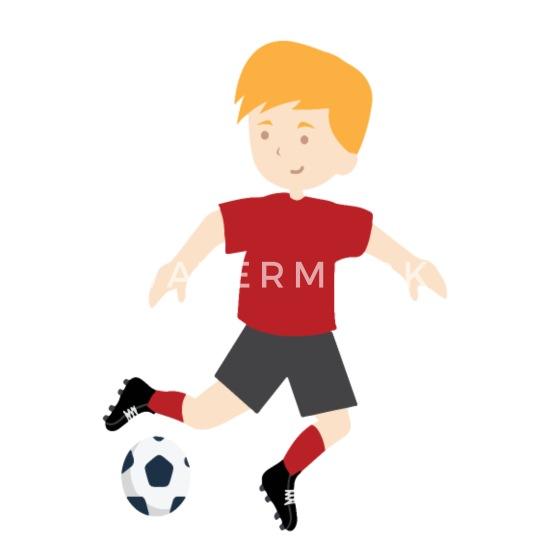 Junge Spielt Fussball Kind Und Ball 03 545 Untersetzer 4er Set Weiss