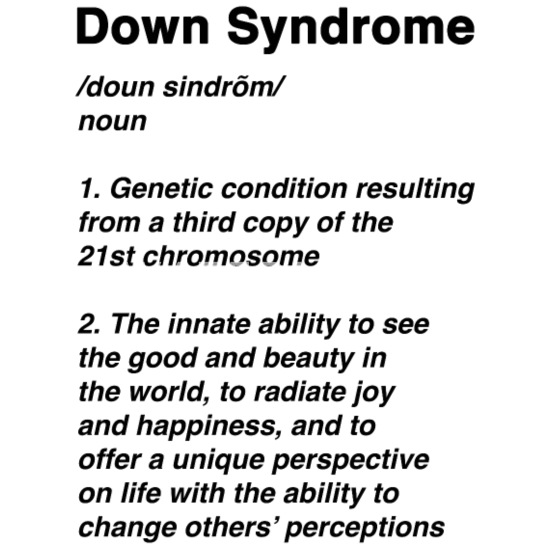 Down Syndrome Definition Awareness Month Coasters (set of 4) - white