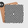 Optical illusion (Impossible) Black & White OP-Art - Coasters (set of 4)