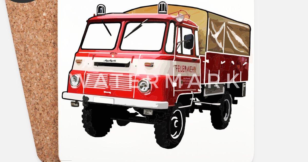 Robur Feuerwehr Lo Ld Untersetzer Spreadshirt