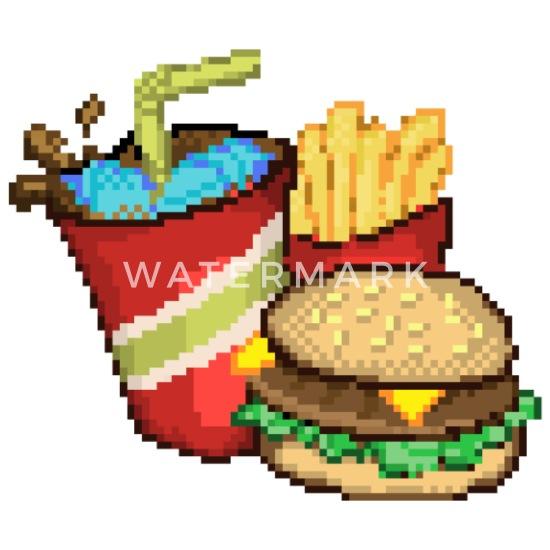 Pixel Art De La Restauration Rapide Dessous De Verre Spreadshirt