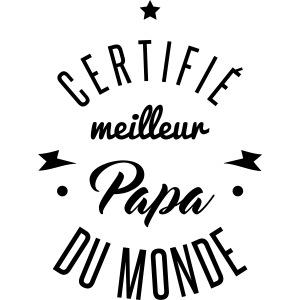 certifié meilleur papa
