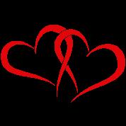Zwei Herzen In Rot Thermobecher Spreadshirt