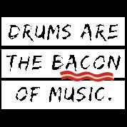 seje citater Trommeslager af Bacon musik seje citater Herre premium T shirt  seje citater