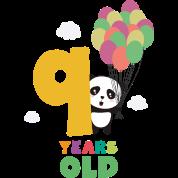 nine years 9th birthday party panda swofi by kelzo spreadshirt