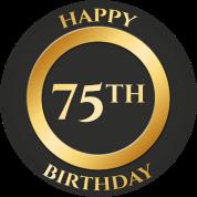 75 birthday happy 75th birthday by sg design spreadshirt