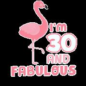 30 jaar grappig Grappige Flamingo verjaardagscadeau 30 jaar! van Zooooom | Spreadshirt 30 jaar grappig