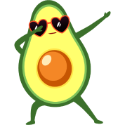 Dabbing Avocado With Heart Sunglasses - Cool Gift