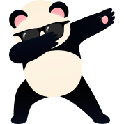 Dabbing Panda With Sunglasses - Cool Gift