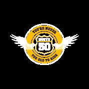 Route 50 Geschenk 50 Geburtstag Biker Motorrad Männer Premium T