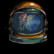 astronautenhelm mit weihnachtsmann m nner premium t shirt. Black Bedroom Furniture Sets. Home Design Ideas