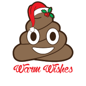 warm wishes christmas poop emoji mistletoe santa - Christmas Poop