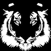 tiger kopf schwarz weiss von deni zeichnet spreadshirt. Black Bedroom Furniture Sets. Home Design Ideas