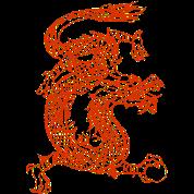 Red Japanese Fire Dragon - Gift Men's Premium T-Shirt