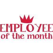 employee of the month with a kings royal crown