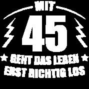 45 Geburtstag Geschenkidee Spruch Lustig Witzig Sporttasche Schwarz