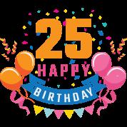 25th Birthday 25 Years Happy Birthday Gift Men S Premium T Shirt