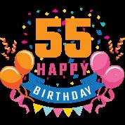 55ste Verjaardag 55 Jaar Gelukkige Gift Van De Verjaardag Mannen