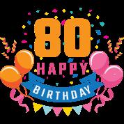 80th Birthday 80 Years Happy Birthday Gift Men S Premium T Shirt