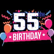 55th Birthday 55 Years Happy Birthday Gift Men S Premium T Shirt