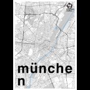 München Karte Schwarz Weiß.München Hipster Stadt Karte Schwarz Weiß Männer Premium T Shirt Schwarz