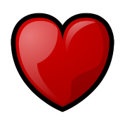 RPG Heart: Full Water Bottle - silver