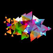 Triángulos Hipster Cantimplora Spreadshirt