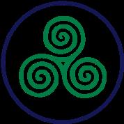celtic triskel 2 colour vector - Celtic Pictures To Colour