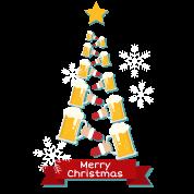 Bier Weihnachtsbaum.Merry Christmas Bier Weihnachtsbaum Weihnachten Männer Premium T Shirt Schwarz