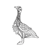 premium selection 4fac4 f177b gans vogel bunt schön geschenk shirt Baby Bio-Lätzchen - Weiß