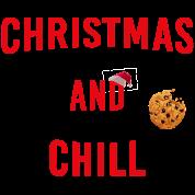 Christmas And Chill Weihnachten Netflix Geschenk Baby Langarmshirt