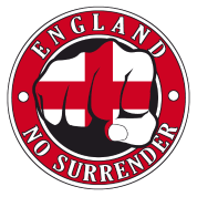 "England ""No Surrender"" Fist"