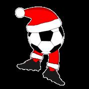 Fussball Weihnachten Weihnachtsfeier Sporttasche Schwarz