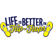 Life Is Better In Flip Flops Schoudertas Spreadshirt