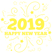 Feliz Ano Nuevo 2019 Celebracion De Fuegos Artificiales Nuevo