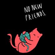 Ingen Nye Venner Ingen Nye Venner Katt Premium T Skjorte For