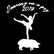 Silvester Chinesisch Neujahr Schwein Ballett Tanz Sporttasche