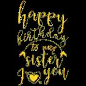 Joyeux Anniversaire Ma Sœur Mug Isotherme Spreadshirt