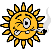 Funny Joint Smoking Sun
