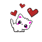 Petit Chaton Mignon Love Pixel Pixelart Casquette