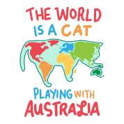 Map Of Australia Meme.Cat Australia Aussie World Map Continents Meme Men S Premium T Shirt