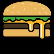 Lecker Burger Fast Food Emoji Hamburger Käse Männer Premium T Shirt