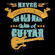 Lustiges Alter Mann Mit Gitarre Geschenk Musik Manner Premium