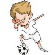 Fussball Spieler Team Dab Dabbing Fussballer Comic Manner