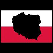Polen Karte Umriss.Polen Umriss Polnische Flagge Karte Geografie Trinkflasche Lightsilver