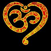 tee shirt yoga coeur om bouddhisme symbole spiritualit dieu spreadshirt. Black Bedroom Furniture Sets. Home Design Ideas