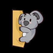 Chibi Comic Koala Bär Kawaii Niedlich Geschenk Gürteltasche