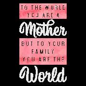 Moederdag Cadeau Moeder Moeder Familie Gezegde Mannen Premium T Shirt Zwart